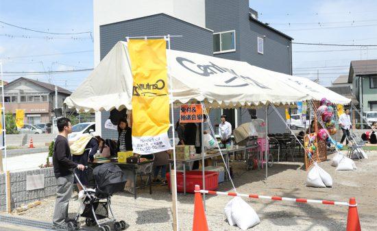 木津駅前ホダパー テント